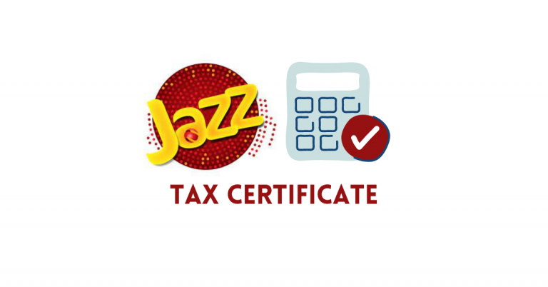 Jazz Tax Certificate